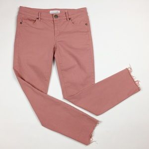 Made and Loved LOFT Skinny Crop Raw Hem Jeans